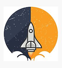 Rocket over the moon Photographic Print