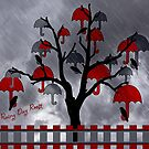 Rainy Day Roost in the Umbrella Tree  by CarolM
