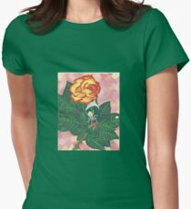 Spider on Rose  Womens Fitted T-Shirt