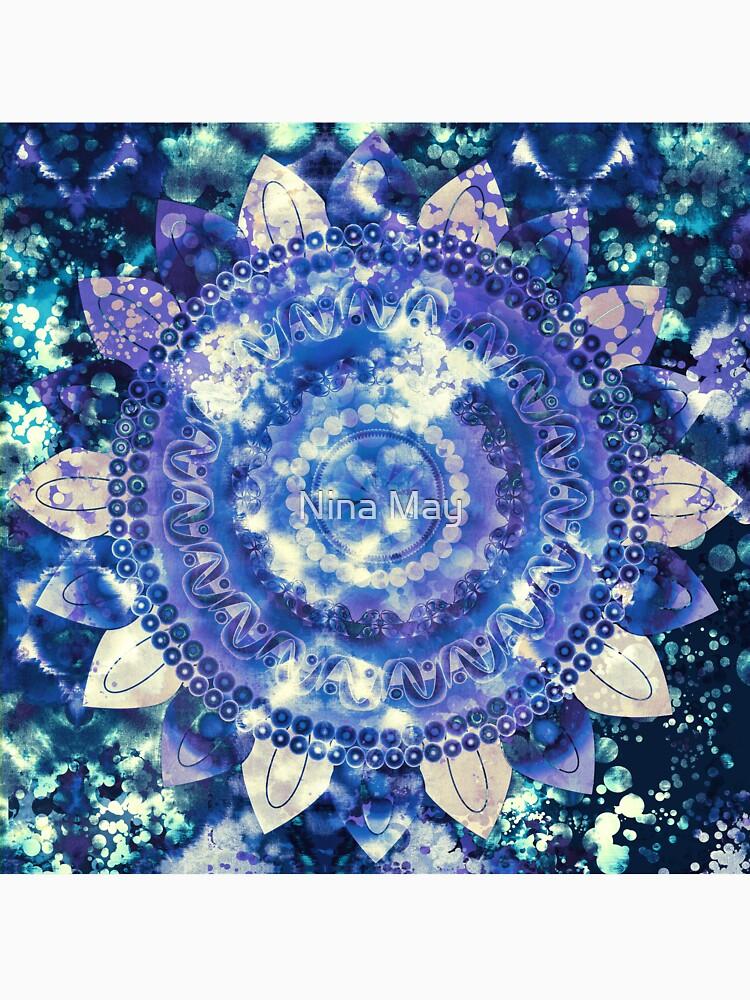 Boho Grape Fizz Mandala by ninabmay