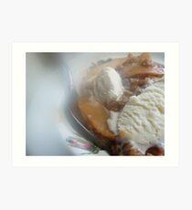STEAMY Apple Crisp and Vanilla Ice-Cream as is Art Print
