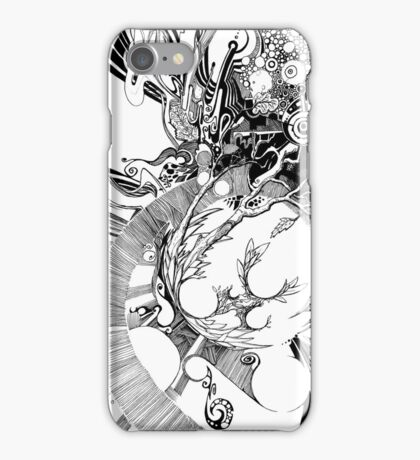 The Wobbly Triangulation Theory - Pen & Ink Illustration Art iPhone Case/Skin
