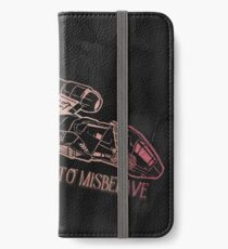 I Aim to Misbehave with Background iPhone Wallet/Case/Skin