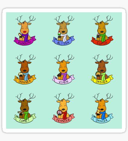 Reindeer Lunch Break Sticker