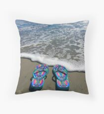 Flip-Flops am Strand Dekokissen