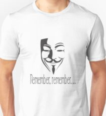 'Remember, remember' Guy Fawkes T-Shirt