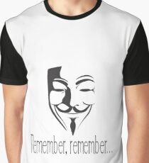 'Remember, remember' Guy Fawkes Graphic T-Shirt