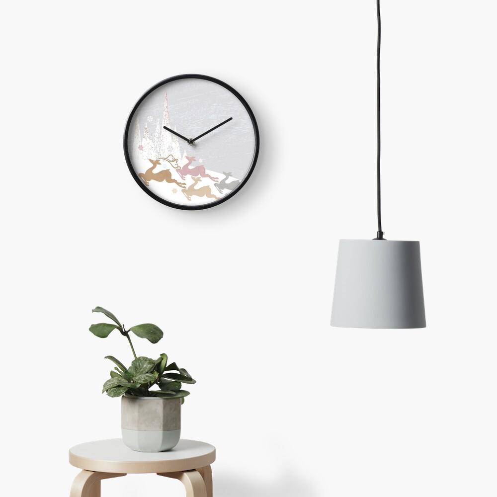 Winter Deer Clock