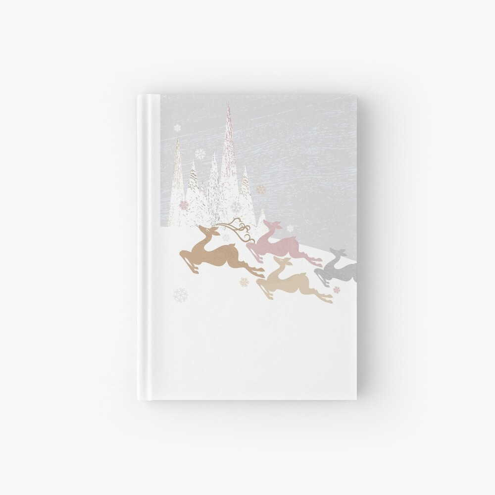 Winter Deer Hardcover Journal