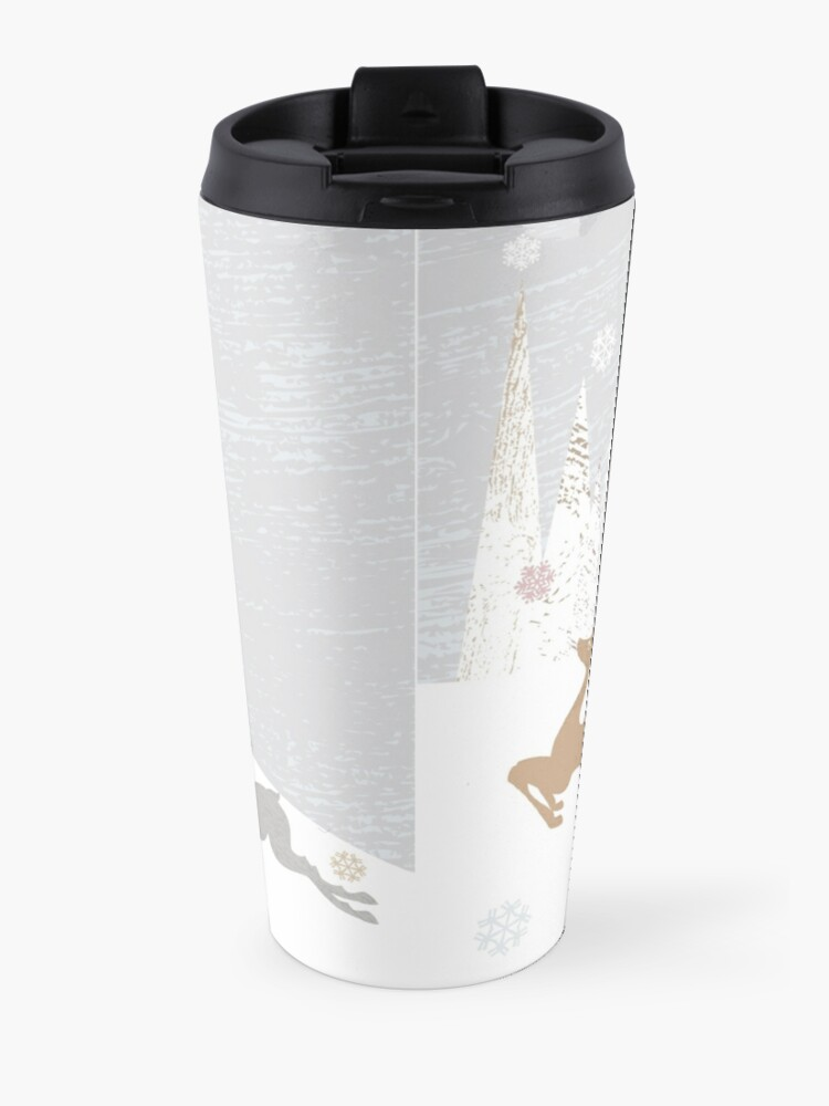 Alternate view of Winter Deer Travel Mug