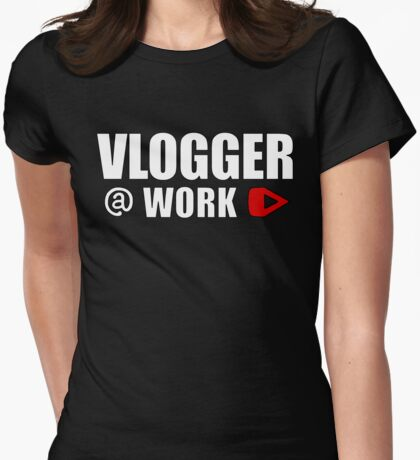 VLOGGER AT WORK (GREY ON CLEAR) T-Shirt