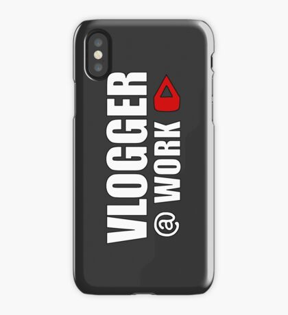 VLOGGER AT WORK (GREY ON CLEAR) iPhone Case