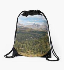 Panoramic landscape Drawstring Bag