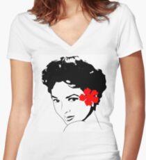 The Miss Dorothy Dandridge Women's Fitted V-Neck T-Shirt