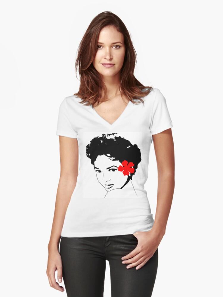 The Miss Dorothy Dandridge Women S Fitted V Neck T Shirt By