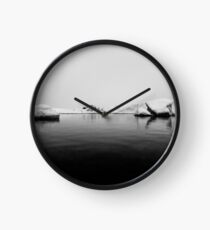 Iceland Winter Black And White Photography #home #decor Clock