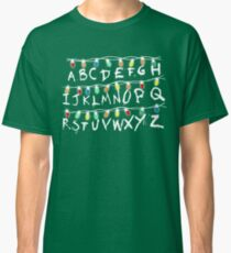 Christmas Lights Alphabet From Stranger Thing T-Shirt Classic T-Shirt