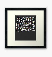 Christmas Lights Alphabet From Stranger Thing T-Shirt Framed Print