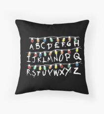 Christmas Lights Alphabet From Stranger Thing T-Shirt Throw Pillow