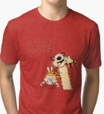 Calvin and Hobbes Funny Face Tri-blend T-Shirt