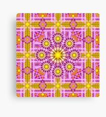 Celestial Matrix Mandala Canvas Print
