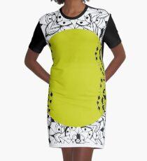 Mandala gelb T-Shirt Kleid