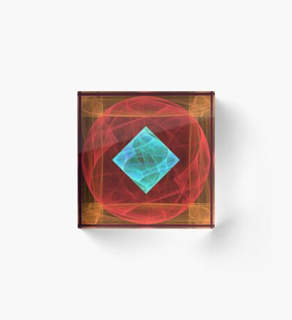 Antiquarian Pulsar #fractal art Acrylic Block
