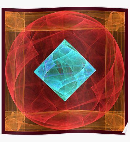 Antiquarian Pulsar #fractal art Poster