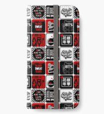 BTS Aufkleber / Muster iPhone Flip-Case/Hülle/Klebefolie