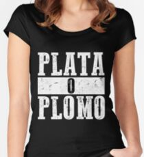 Silver or lead Women's Fitted Scoop T-Shirt