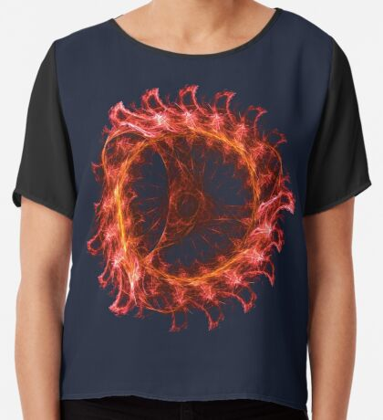 I am the Fire! #fractal Chiffon Top