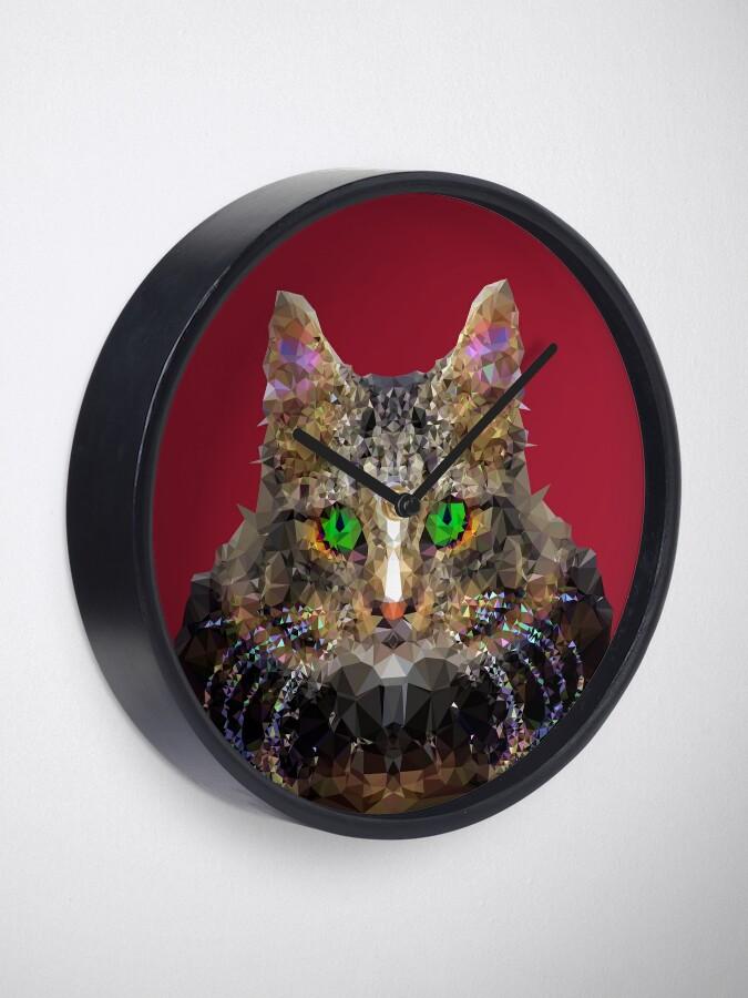Alternate view of Imperial Boss cat Clock