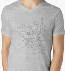 Yoga Manuscript Mens V-Neck T-Shirt
