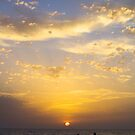 Sunset And Fishermen by Francis Drake
