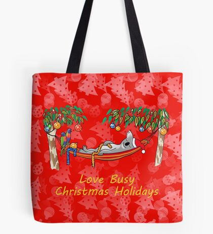Koala Relaxing on its Hammock – Love Busy Christmas Holidays!  Tote Bag