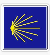 Camino de Santiago Sign, Spain Sticker