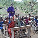 The Maasai School, Tanzania, Africa by Adrian Paul