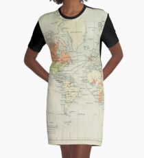 Old world map Graphic T-Shirt Dress