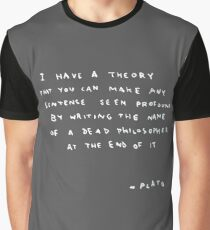 Banksy Plato goes New York - i have a theory Graphic T-Shirt