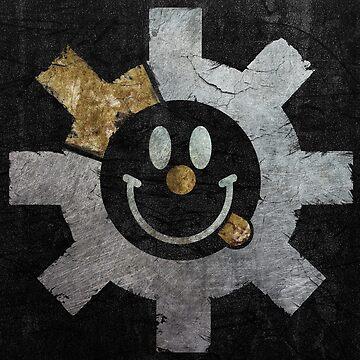 Bolt Face - Smiley (Metal) by zingarostudios
