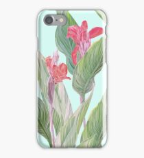 tropical flower canna iPhone Case/Skin