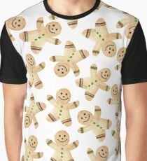 Gingerbread Man Cookie - Watercolor Gingerbread Christmas Cookies Graphic T-Shirt