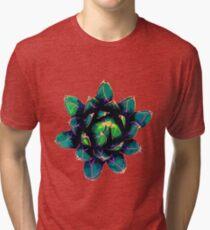 Sweet Agave ( Blue Succulent ) Tri-blend T-Shirt