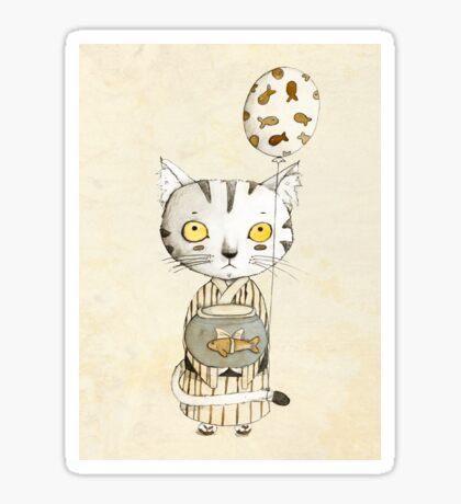 Birthday Cat Sticker