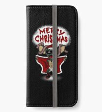 Flashing Through The Snow (colour/with text) iPhone Wallet/Case/Skin