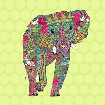 bemalter Elefant Chartreuse von scrummy