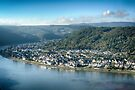 Braubach Rhineland from Marksburg Castle by Imagery