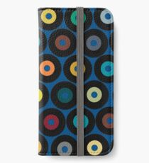 VINYL blue iPhone Wallet