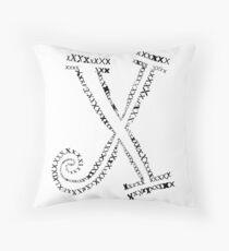 X letter Throw Pillow