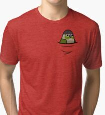 Too Many Birds! - Green Cheeked Conure Tri-blend T-Shirt